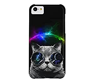 Cat in Space iPhone 5c Black Barely There Phone Case - Design By Humans