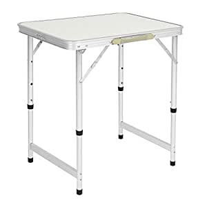 Amazon.com: Mesa plegable de aluminio para camping, picnic ...