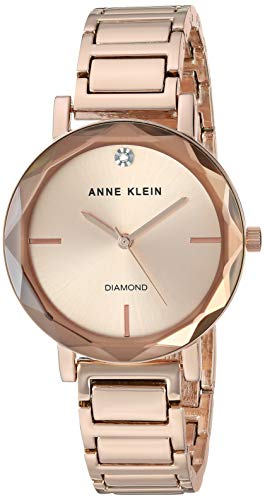 Anne Klein Women's Quartz Metal and Alloy Dress Watch, Color:Rose Gold-Toned (Model: ()