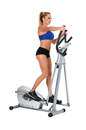 Magnetic Elliptical Trainer with Hand Pulse Sensors by Sunny Health & Fitness – SF-E3607