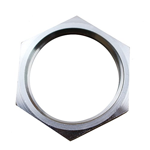 Dernord Cast Pipe Fitting Stainless Steel 304 Hex Locknut NPT Female (1 (Pack of 1))