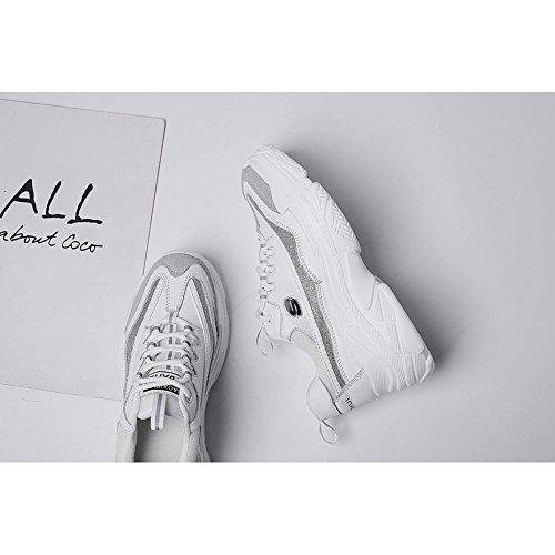 KJJDE Running Zapatos con A3422 Libre Aire de Mujeres y Para Deportivas Senderismo blanco Zapatos Plataforma WSXY Diseño Cuña BSBrxa4q