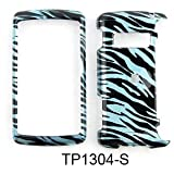 Blue Zebra Print Design Cell Phone Cover + (Car Charger) For LG Env3 VX9200