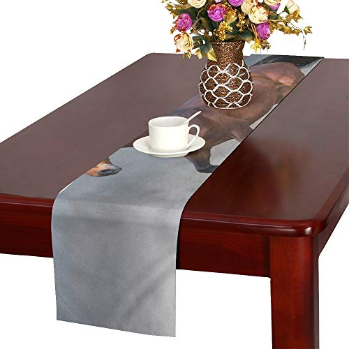 Bay Horse Dust Run Fast Against Table Runner, Kitchen Dining Table Runner 16 X 72 Inch for Dinner Parties, Events, Decor