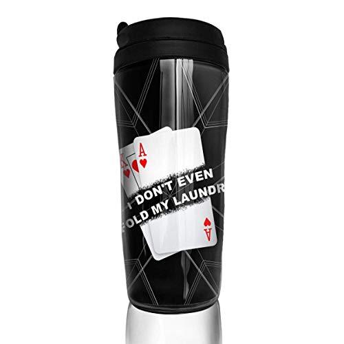 Funny Card Player Texas Hold Em Stylish Insulated Traveler Coffee Mug Tumbler Coffee Cup 12 Oz ()