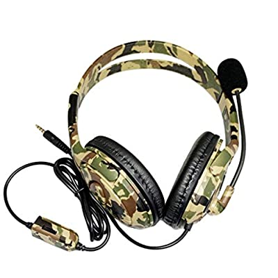 Seaintheson Gaming Headset 3.5mm Over-Ear with Microphone Wired Headphone for Playstation Sony PS4 Green: Clothing