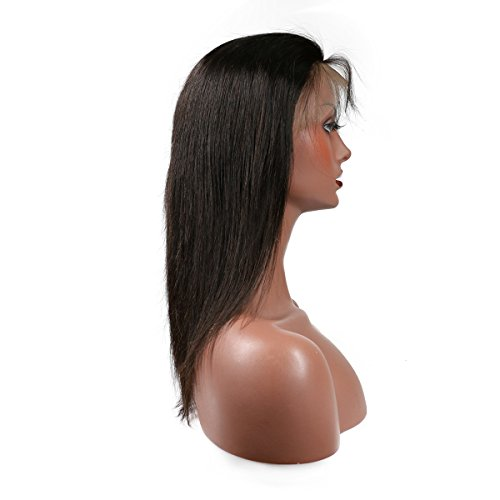 KeLang Brazilian Virgin Human Hair Lace Front Wigs for Black Women Long Straight Pre Plucked Glueless Human Hair Wigs With Baby Hair And Bleached knots 130% Density Natural Black color (Lace Front 16) by KeLang (Image #8)
