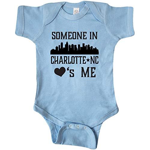 inktastic - Charlotte North Carolina Infant Creeper Newborn Baby Blue 35450