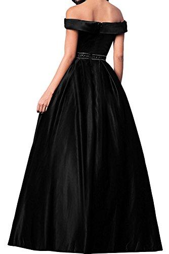 Traube Satin Dunkel Promkleider Brautmutterkleider Lang Marie Damen Brautjungfernkleider Abendkleider La Schwarz Braut qwpIwPZ