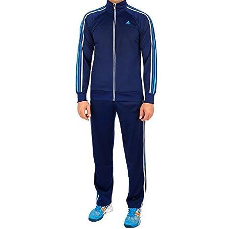 Adidas Tuta da allenamento Uomo Essentials 3 stripes, Blu