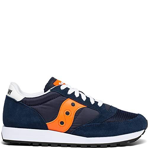Saucony Originals Men's Jazz Original Vintage Sneaker, Navy/Orange, 11 M US