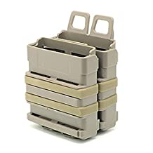 KYhao Tactical 7.62 Double Fast Attach MAG Magazine Pouch Molle Holder Set for M4 (DE)