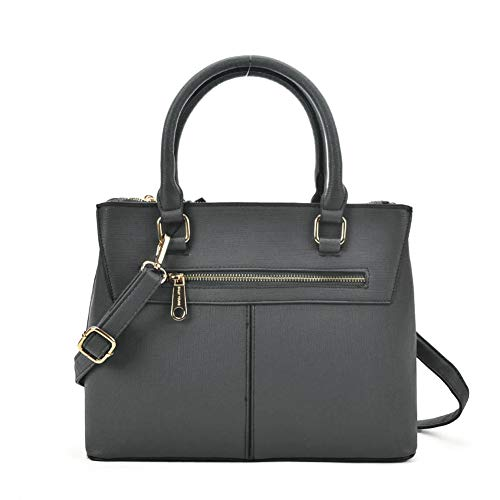 Shoulder with Women Fashion Strap Square Handbag Tote YOUNG Leather Elegant Grey Women Style SALLY Large Simple nOgUqw70
