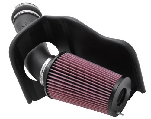 K&N Performance Cold Air Intake Kit 57-2530 with Lifetime Filter for 1999-2003 Ford F250/350 7.3L V8 Power Stroke Diesel by K&N ()