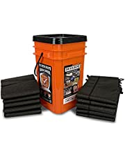 Quick Dam Grab & Go Flood Kit Includes 5-5ft Flood Barriers & 10-2ft Flood Bags in Bucket