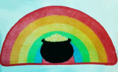 St. Patrick's Day Rug - Pot of Gold Design -