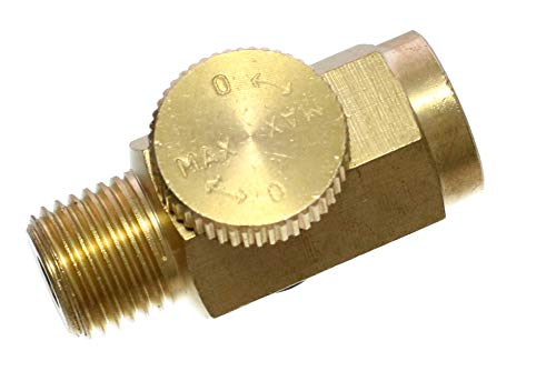 Quickun Pneumatic Brass In-Line Air Flow Regulator Valve, 1/4