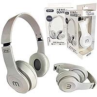 Fone de Ouvido com Microfone Design Compacto e Dobrável KP-429 Branco P2
