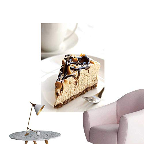 SeptSonne Wall Stickers for Living Room Caramel Chocolate Cheesecake a Coffee Vinyl Wall Stickers Print,32