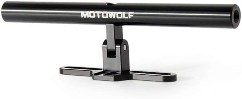 noir Support r/églable en alliage daluminium pour barre transversale MOTOWOLF