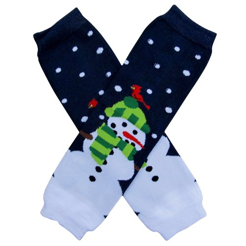 Christmas Holiday Winter Party Styles Leg Warmers - One Size - Baby, Toddler, Girl, Boy (Snowman Snowy - Sydney Out Night
