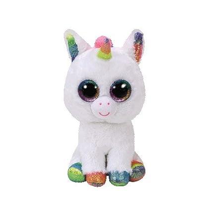 837f75e48a4 Amazon.com  TY Beanie Boos Pixy - White Unicorn Reg Plush  Toys   Games