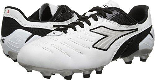 Diadora Soccer Men's Maracana L Soccer Cleat,White/Black,8 M US