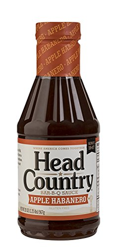 Head Country Bar-B-Q Sauce, Apple Habanero, 20 Ounce