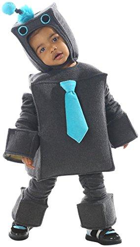 [Princess Paradise Baby Boys Roscoe The Robot, Gray, X-Small] (Boy Robot Halloween Costume)