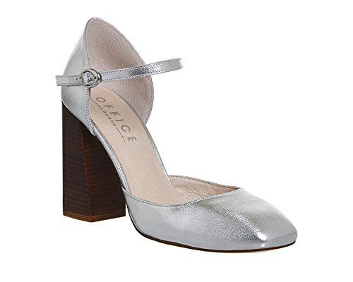 Unbekannt - Zapatos de vestir para mujer Silver Leather
