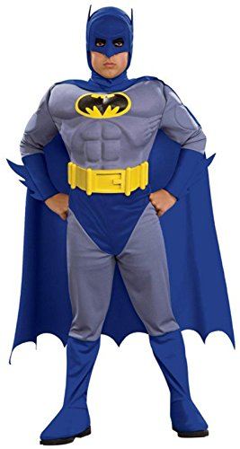 Batman The Brave and Bold Deluxe Muscle Chest Batman Child Costume Size: Large (Bold Batman Costumes)