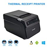 Scangle SGT-88IV Desktop USB Direct Thermal POS Receipt Printer - With USB / Serial / Ethernet Ports - Work on Windows XP//7/8/8.1/10/Linux/android,