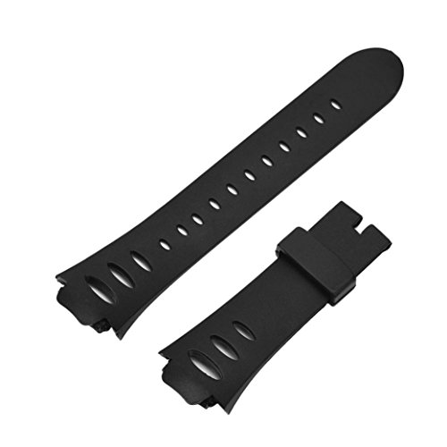 (New In Memela(TM)Replacement Accessory Silicone Watch Bands for SUUNTO OBSERVER SR X6HRM Watch with Tool Black)
