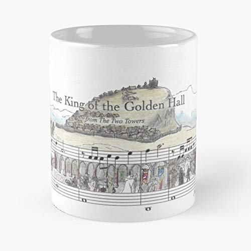 Sheet Music Art Lord Of The Rings Coffee Mugs Unique Ceramic Novelty Cup