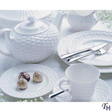 Aynsley Basketweave Teacup(s) & Saucer(S)
