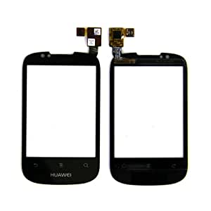 ePartSolution-New Huawei IDEOS X1 U8180 Digitizer Touch Screen Glass Front Panel Lens HUAWEI Logo Replacement Part USA Seller