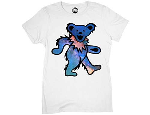 Ripple Junction Grateful Dead Womens Space Bear Light Weight 100% Cotton Crew T-Shirt XL White Bear Womens Light T-shirt
