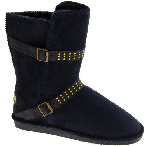 Footwear Studio - Botas de nieve mujer Azul Medianoche
