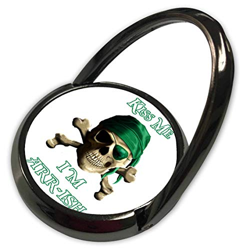 - 3dRose Macdonald Creative Studios - Nautical - Funny Irish Jolly Roger Joke Kiss Me I'm Arrish - Phone Ring (phr_299232_1)