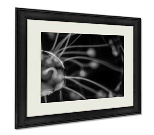 Ashley Framed Prints Tesla Sphere, Wall Art Home Decoration, Black/White, 26x30 (frame size), AG6021208 by Ashley Framed Prints