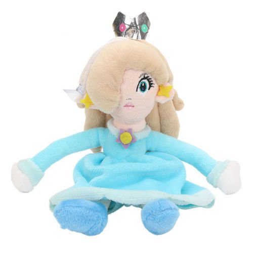 Stuffed Princess Peach Plush Doll - 8 Inch Mario Bros. Princess Peach Plush Doll Stuffed Animal Toy Suitable For Babies and Children - Perfect Birthday Gifts - Toy Doll for Kids and Toddlers (Watch Baby Seal)