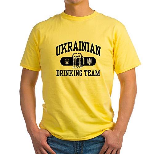 CafePress Ukrainian Drinking Team Light T Shirt 100% Cotton T-Shirt Yellow (Light T-shirt Team Drinking)