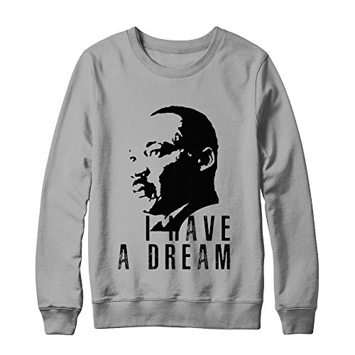 Martin Luther King Jr Equality Day Civil Rights Leader I Have A Dream Quote Hanes - Ultimate Heavyweight Crewneck Sweatshirt Light Steel S