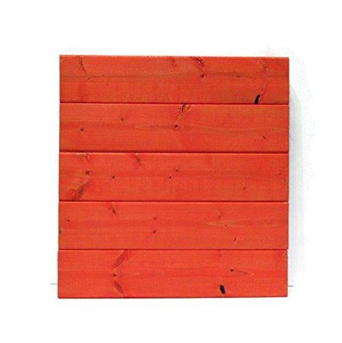 Modern Rustic Orange Wood Sign Blank