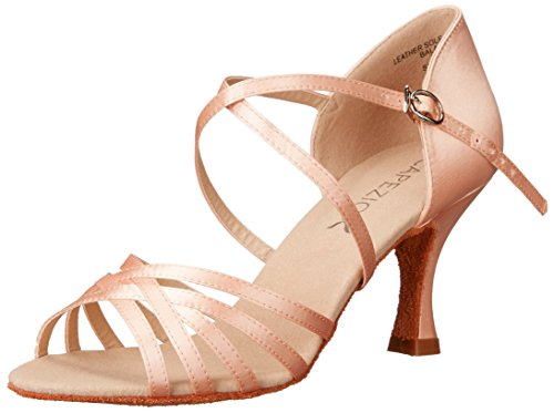 Capezio Women's Rosa 2.5'' Social Dance Shoe,Camel Satin,6 M US by Capezio