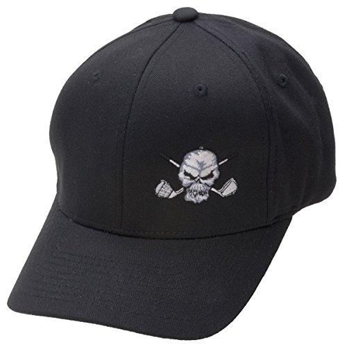 Tattoo Golf Hat w/ Small Skull Design - Black - S/M (6 3/4 - 7 1/4) ()