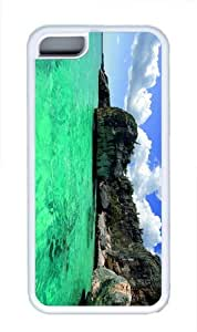 durable cases Green Sea TPU White Case for iphone 5C