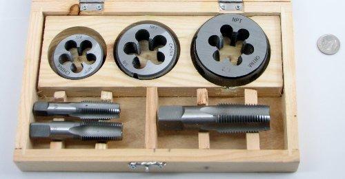 6 Piece Pipe Tap & Die Set