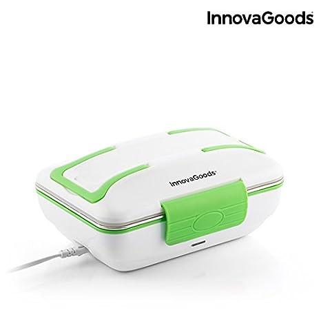 InnovaGoods Fiambrera Eléctrica Pro 50W, Blanco y Verde, 24 x 11 x 18 cm: Amazon.es: Hogar
