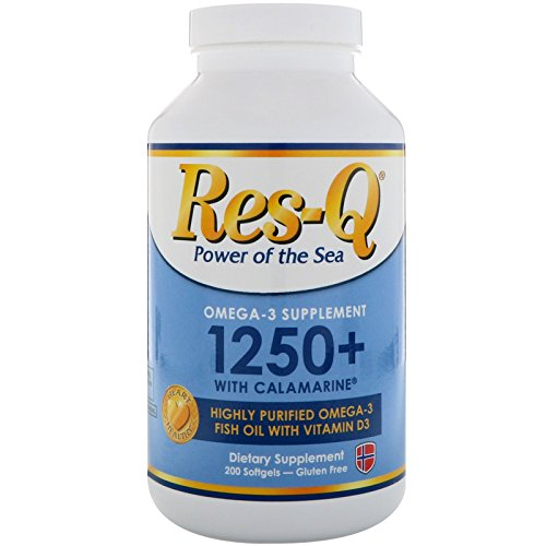 Res-Q 1250 with Calamarine Omega-3 Vitamin D3 200 (1250 Omega 3)
